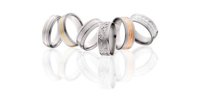 men's rings in all metals